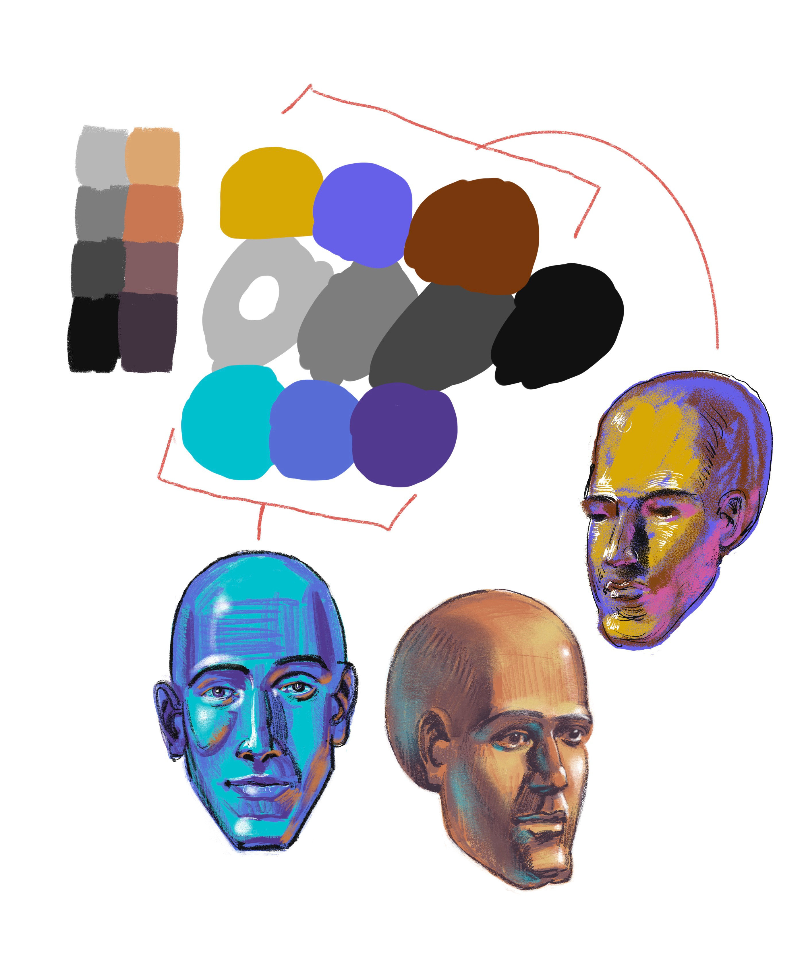 Selecting colour according to value.