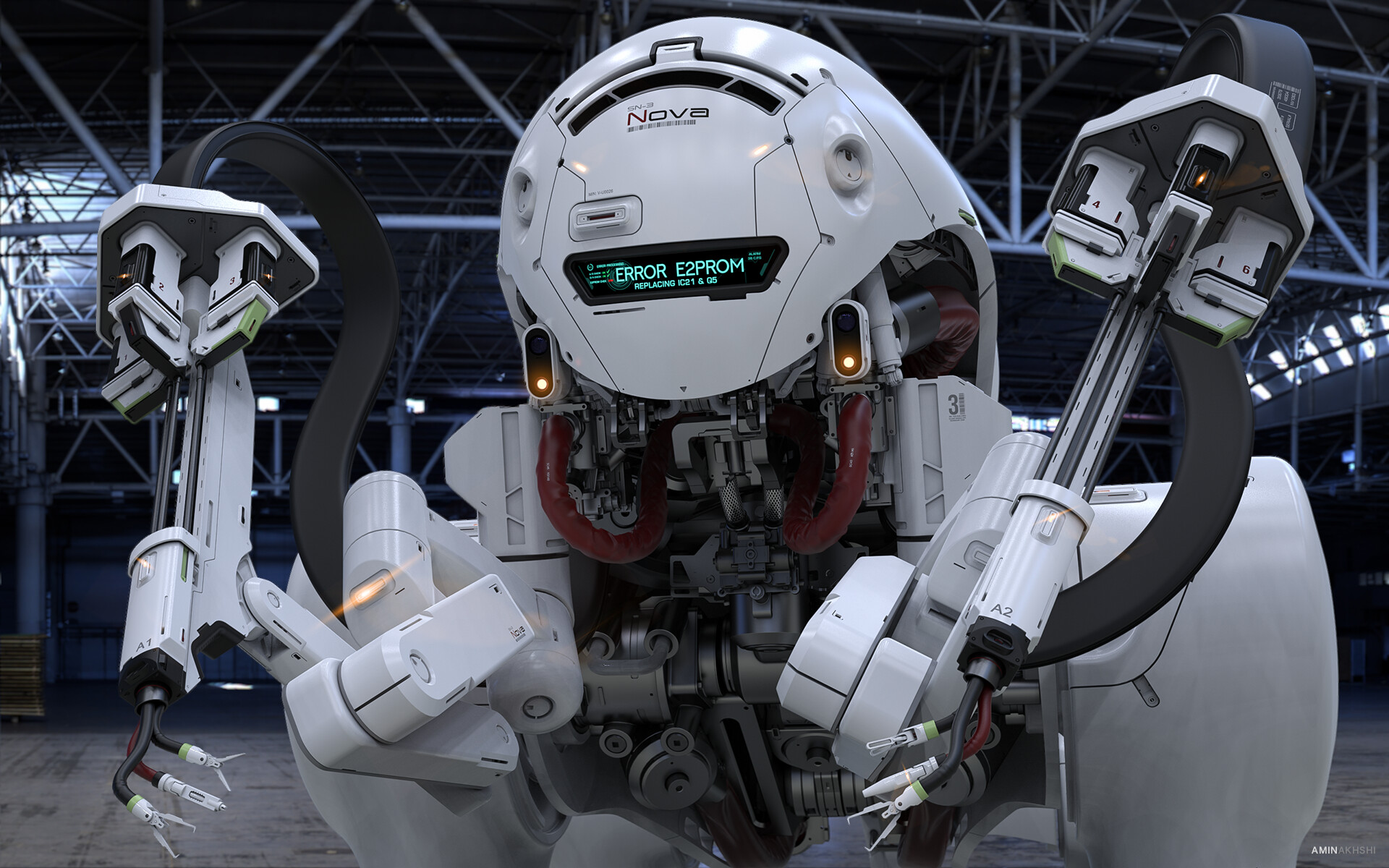 The front of the robot