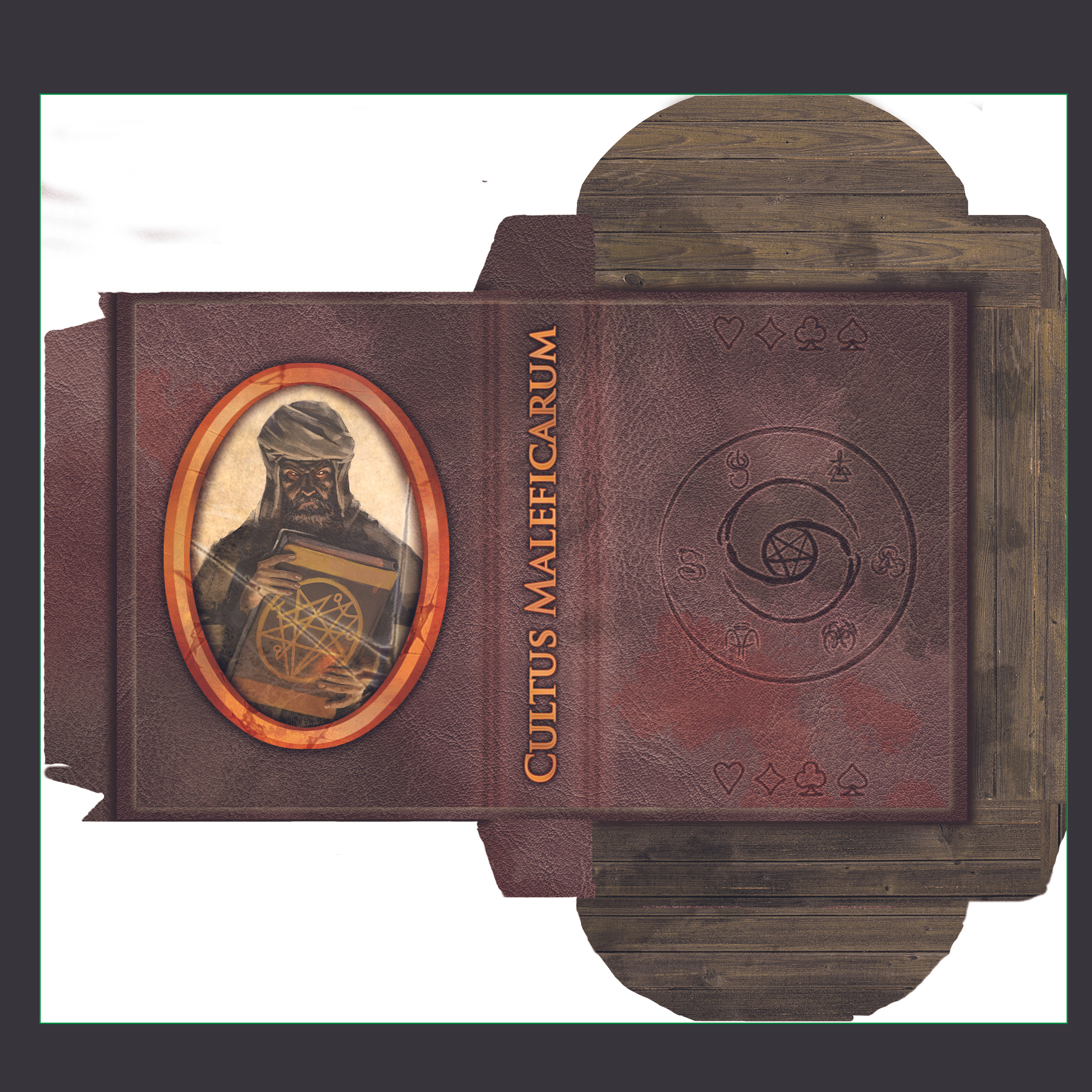 """The illustration inside the """"gold"""" it isn't mine. In the end it will appear as a """"wooden box"""" disguised as a book."""