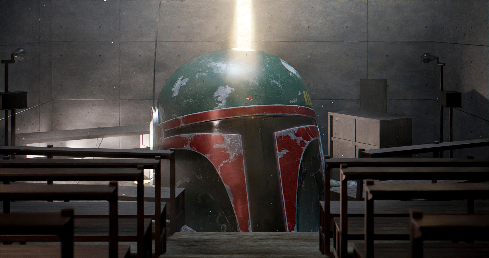 -The Church of Light - Tadao Ando (1989) -Star Wars - Boba Fett's Helmet