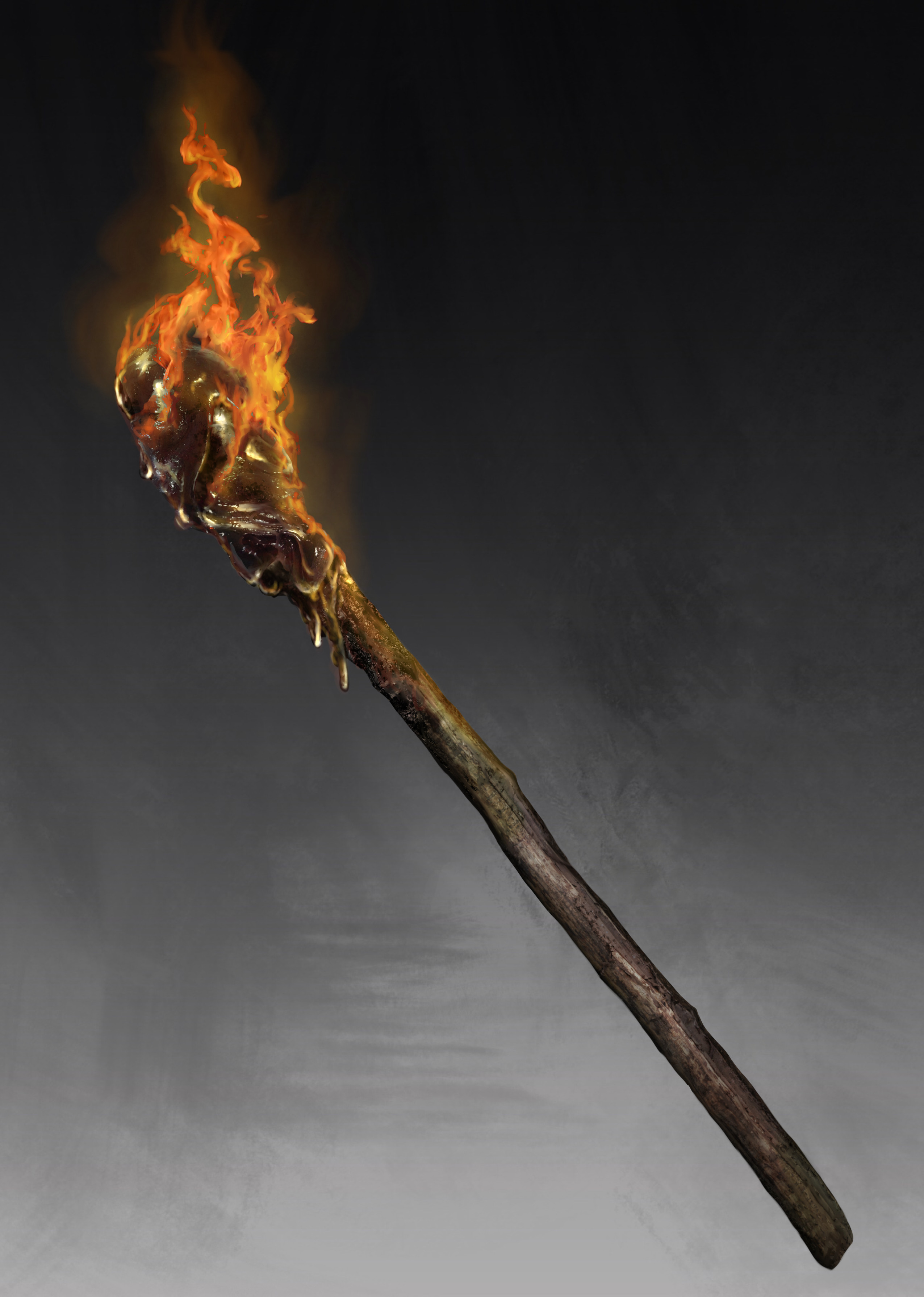 Tar Covered Torch