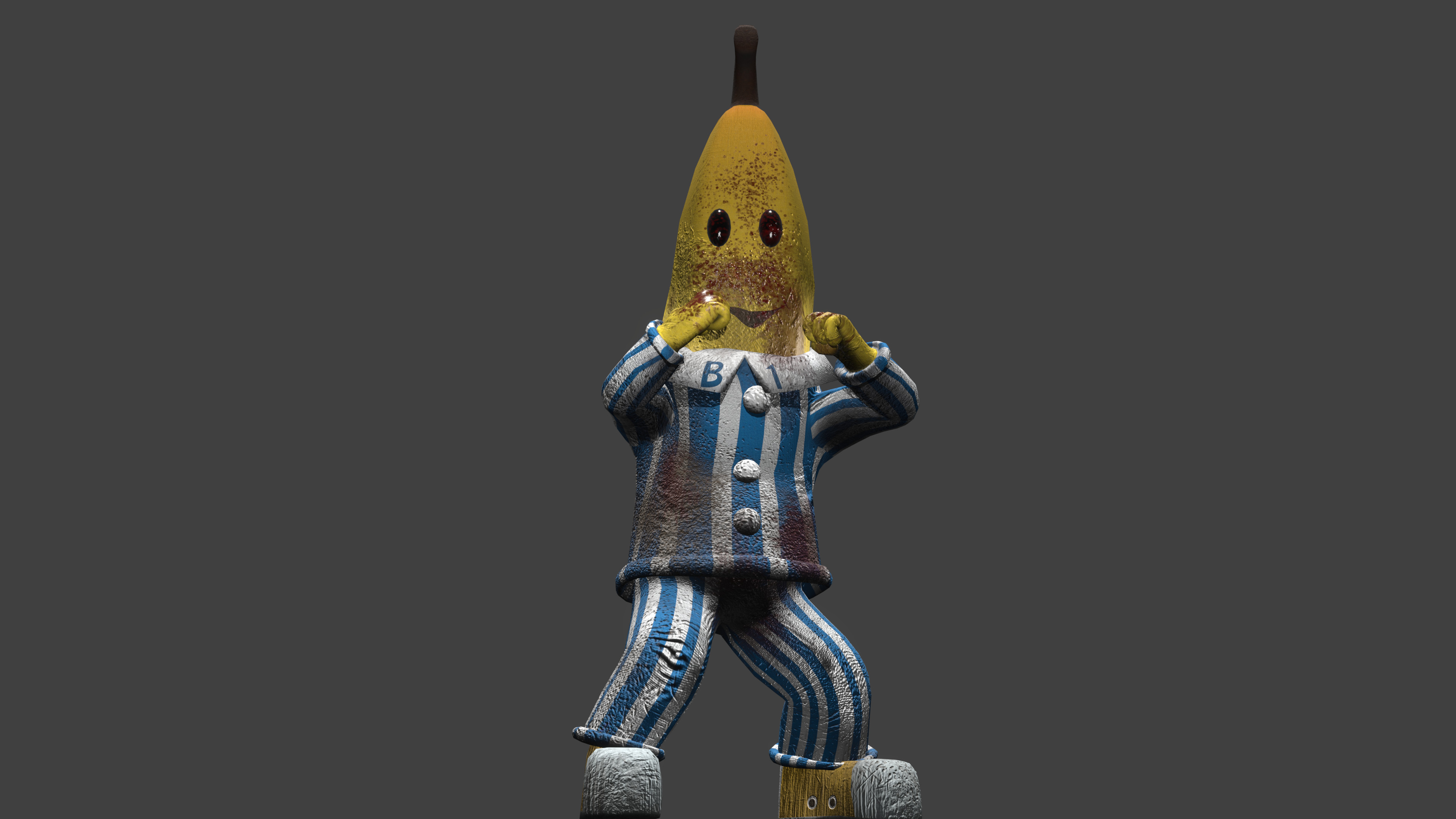 """Given the mascot suit nature of the character... I couldn't help myself. It was in the back of my head that """"someone will use this model for GTA mods"""" all along."""