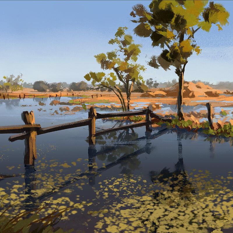 Australian landscape sketches