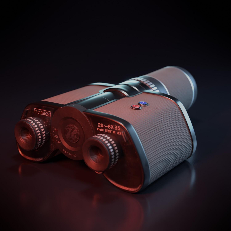 Vintage Hamica Binoculars (Free 3D Model)