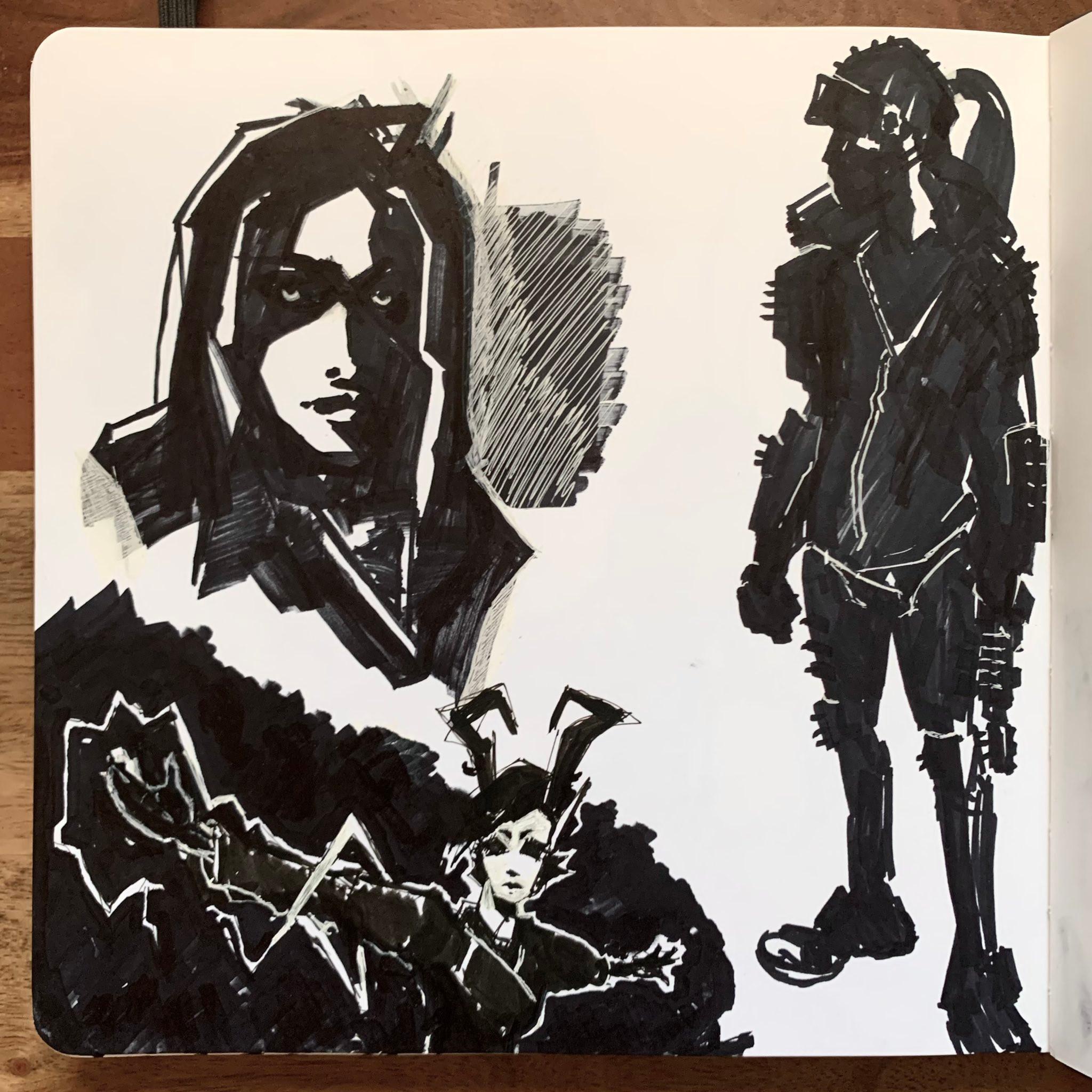 January Sketch Page