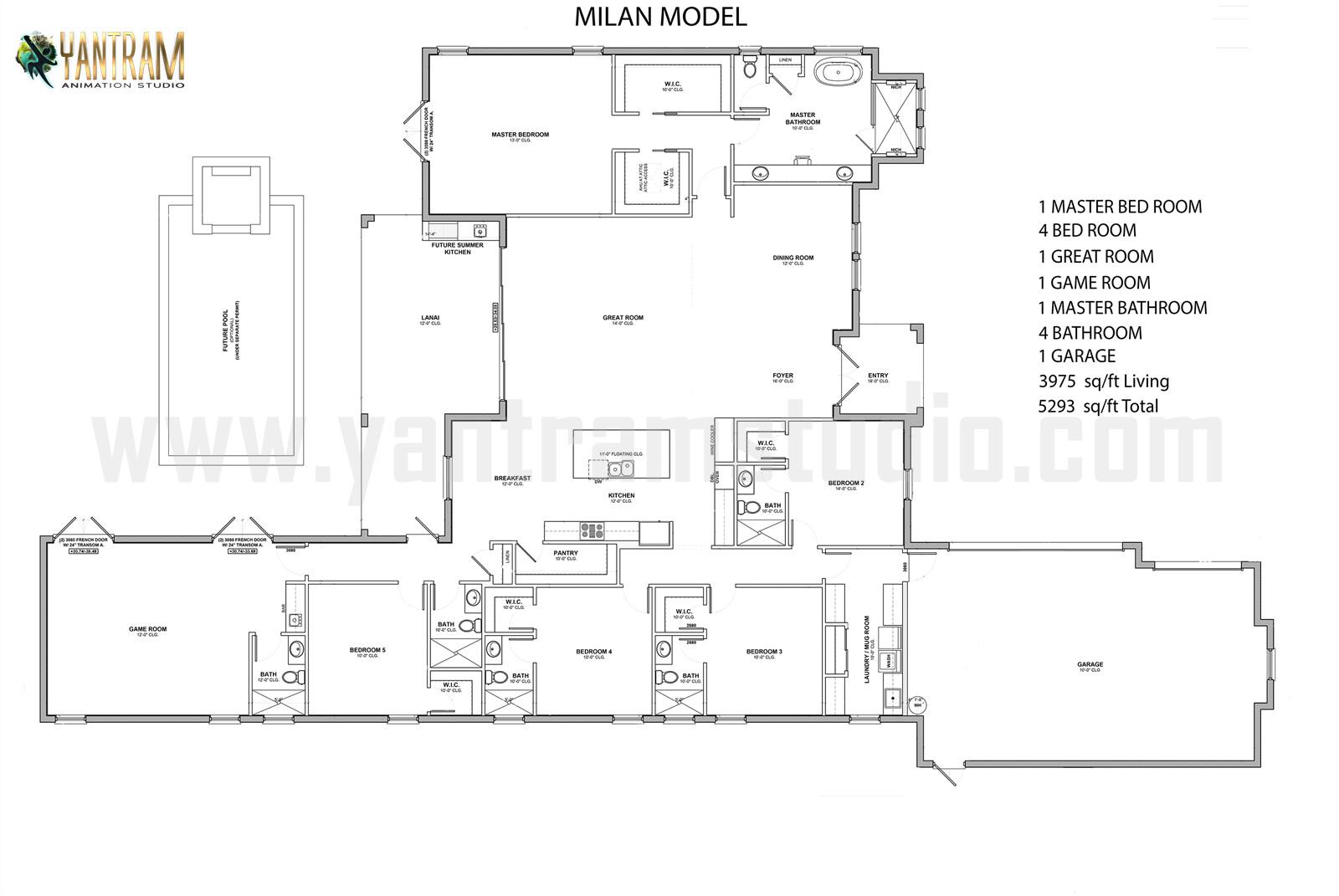 Yantram Architectural Design Studio 2d Floor Plan Rendering