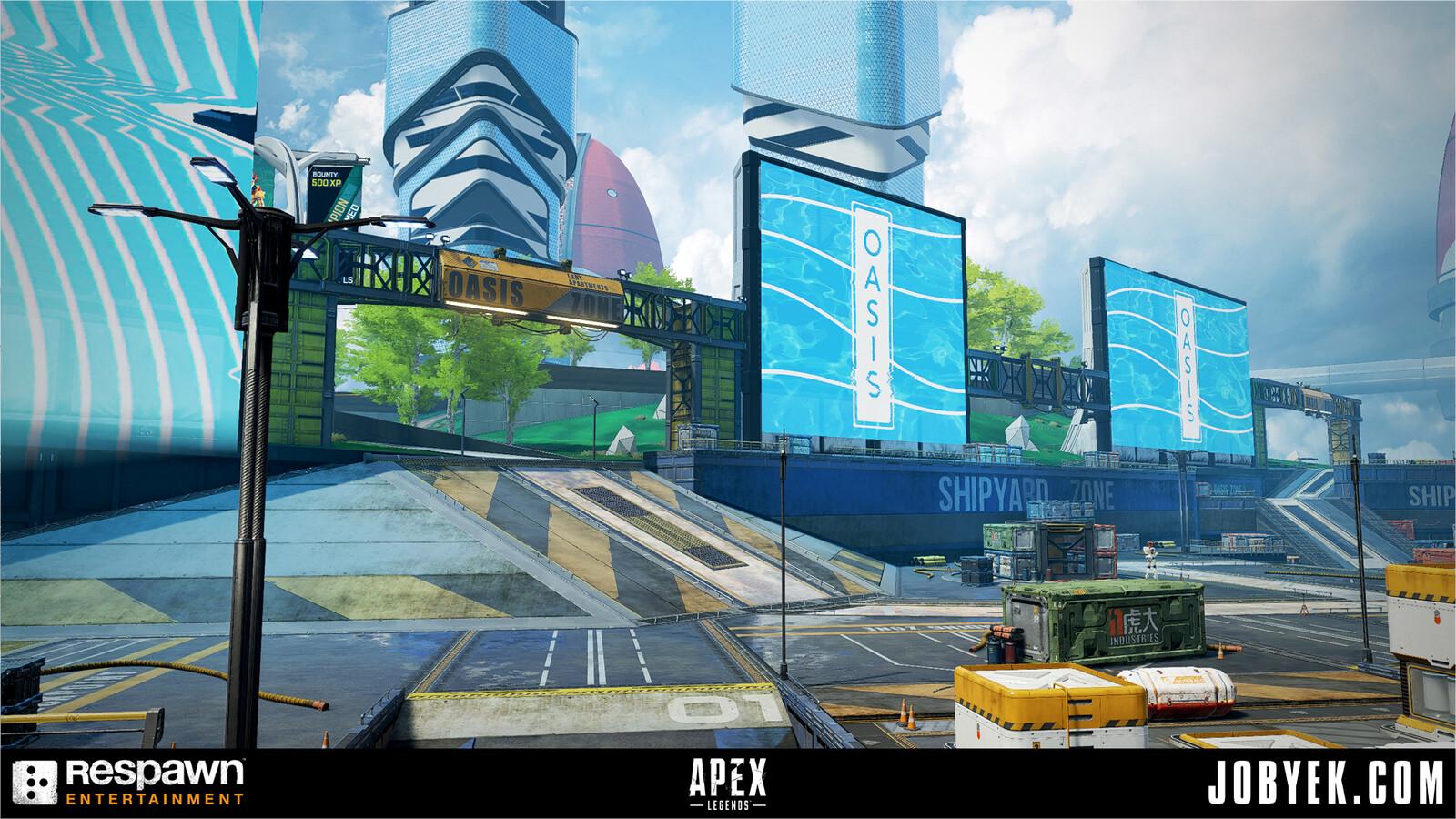 Shipyard area