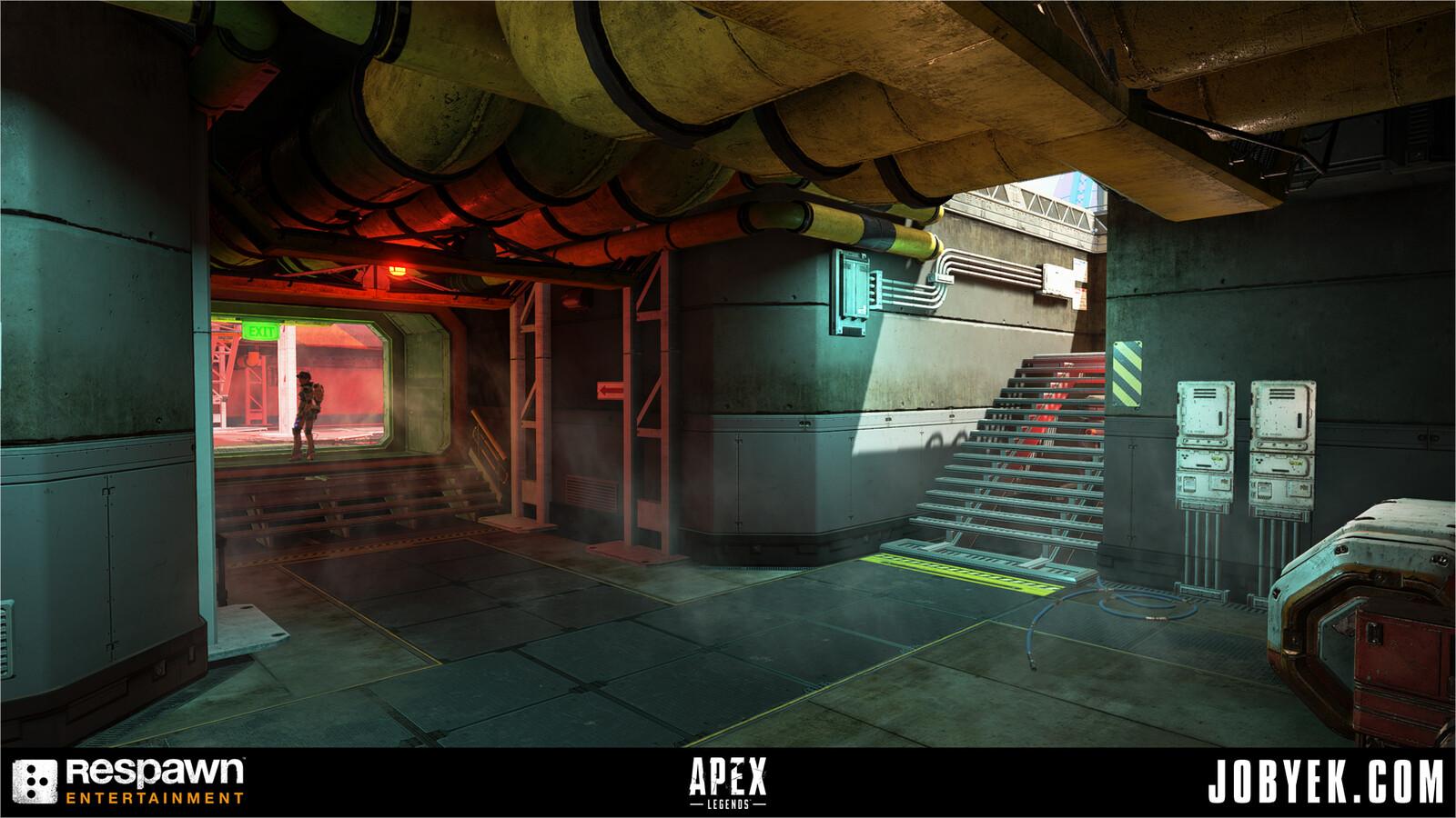 Underground passages.