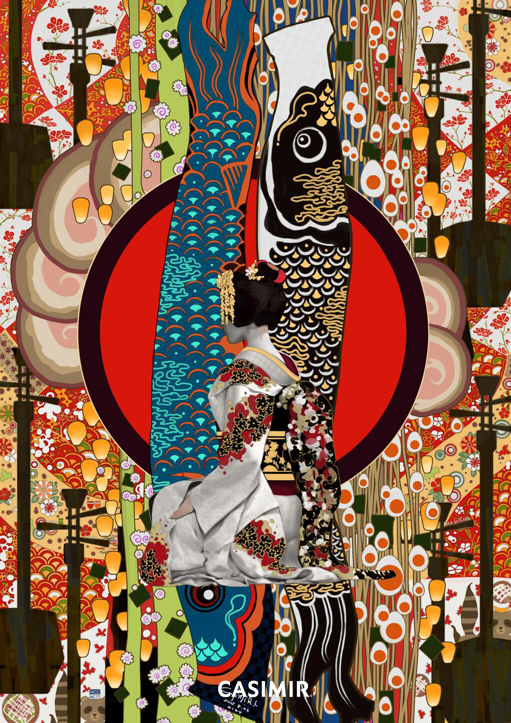 Geisha / 藝伎  Details -------------------------------------- Limited Edition of 10 (Sold Out) Size : 40(W) x 58(H) cm Numbered and signed 12 colors high-quality print on watercolor paper 2015/09 --------------------------------------