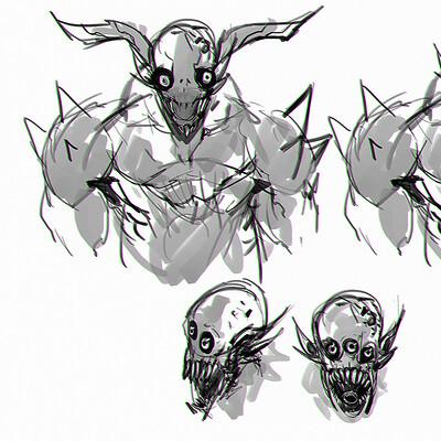 Benedick bana monster sketch lores