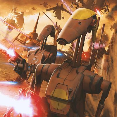 Andreas bazylewski low battle of geonosis droid army