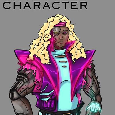 Raiden otto raidenotto cyberpunk characterwitharmmods conceptart 2020