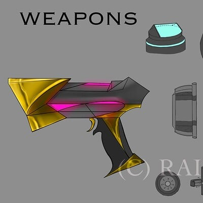 Raiden otto raidenotto cyberpunk characterweapons conceptart 2020