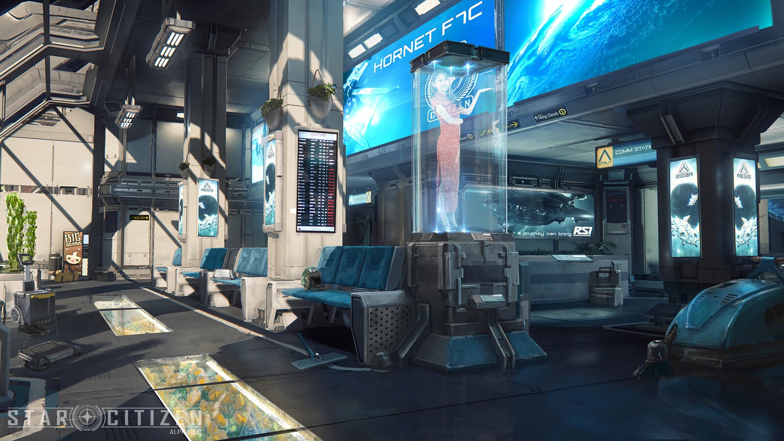 Star Citizen Alpha Station interior concept