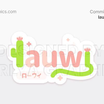 Aerlya graphics sample lauwibauwi vtuberlogo