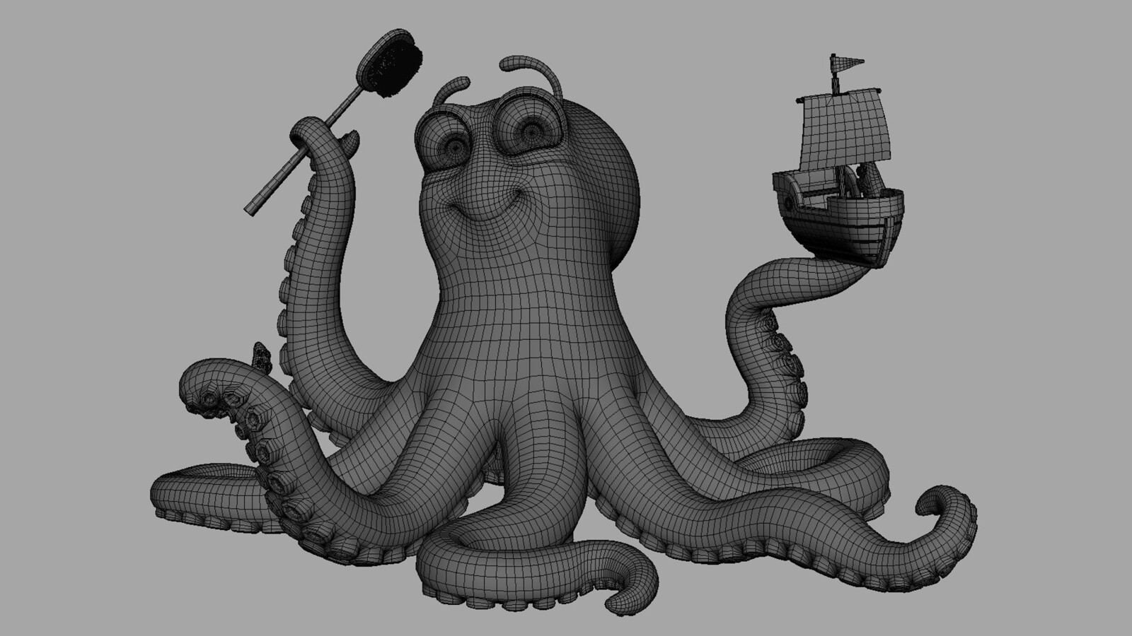 Octopus Wireframe