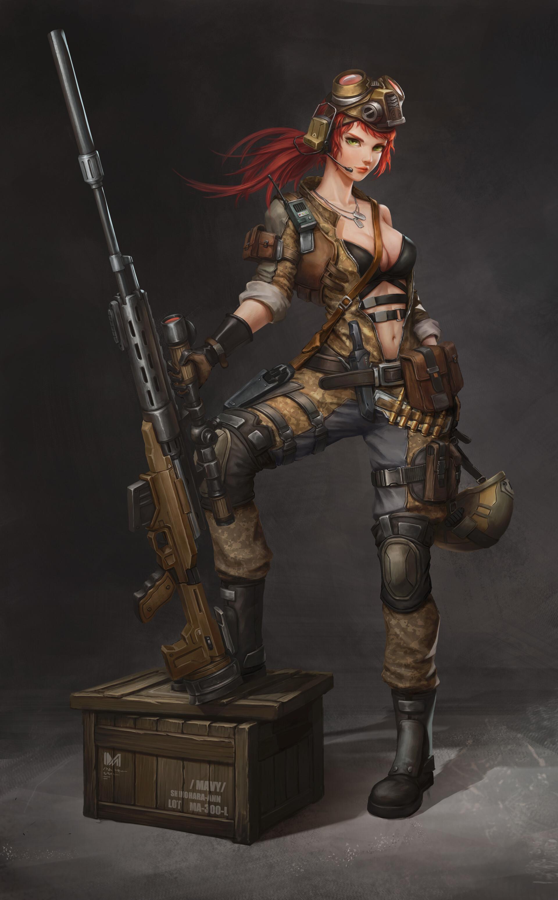 Female Sniper Art