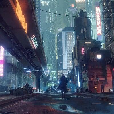 Lorenz hideyoshi ruwwe cyberpunk city final 4k