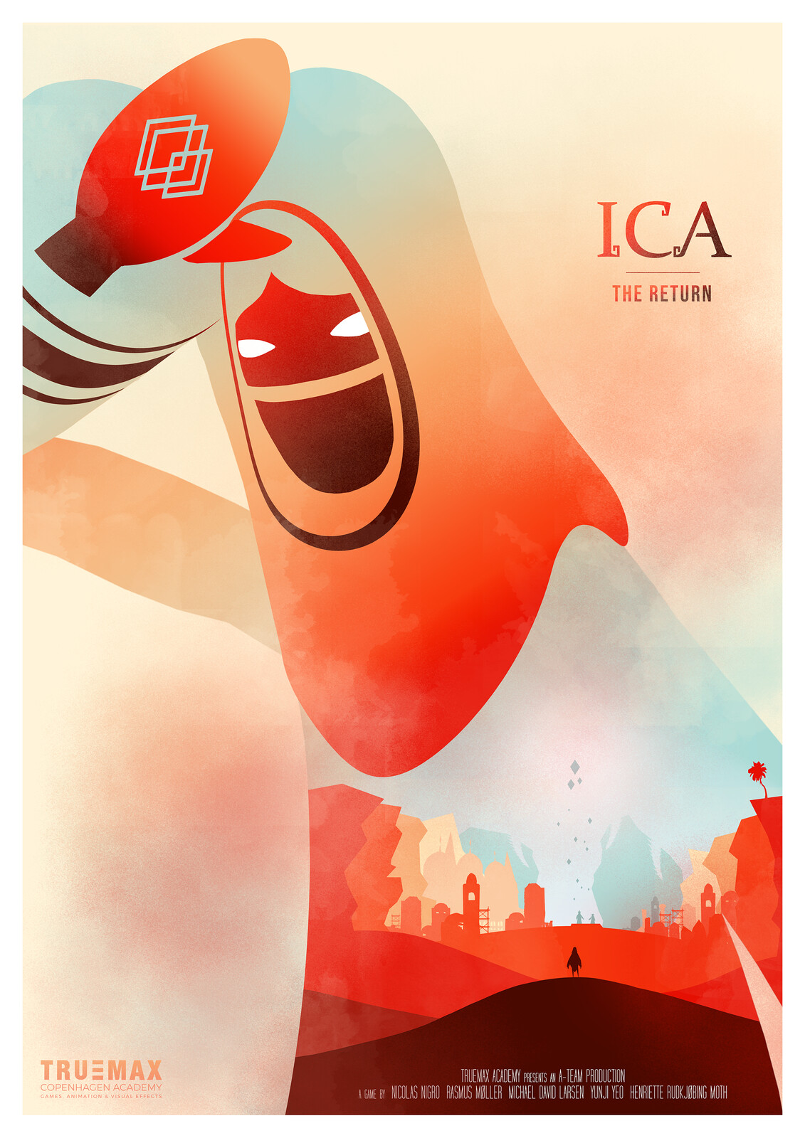Final Poster for Ica. Made in Photoshop.