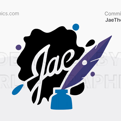 Aerlya graphics sample jaetheterrible logo