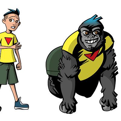 Gustavo lucero chico gorila color m