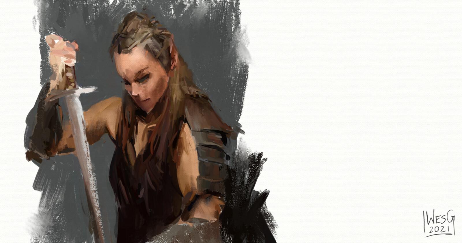 Warrior Sketches (Set of 4)