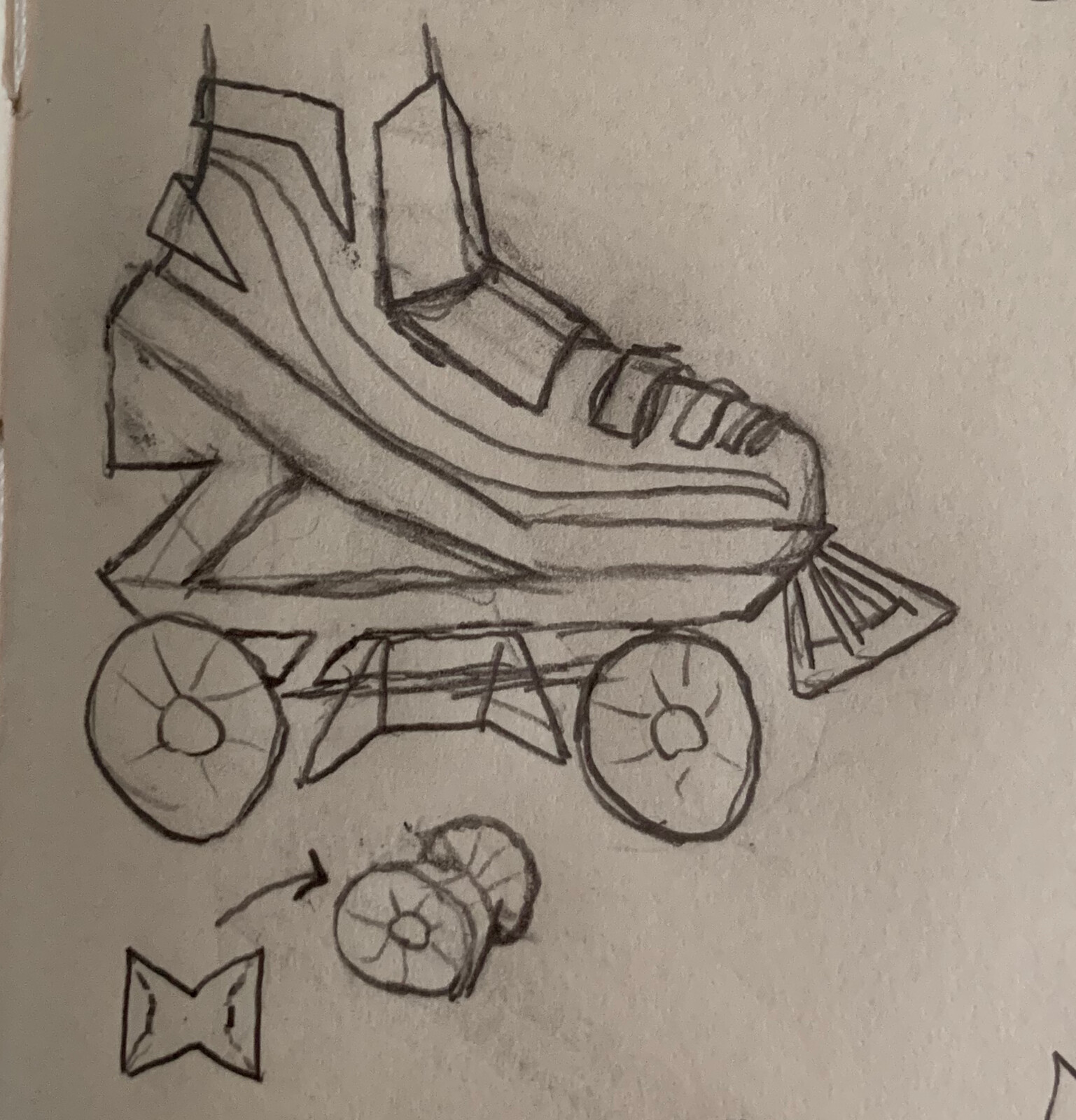 My concept art for the skate. Things didn't change much.
