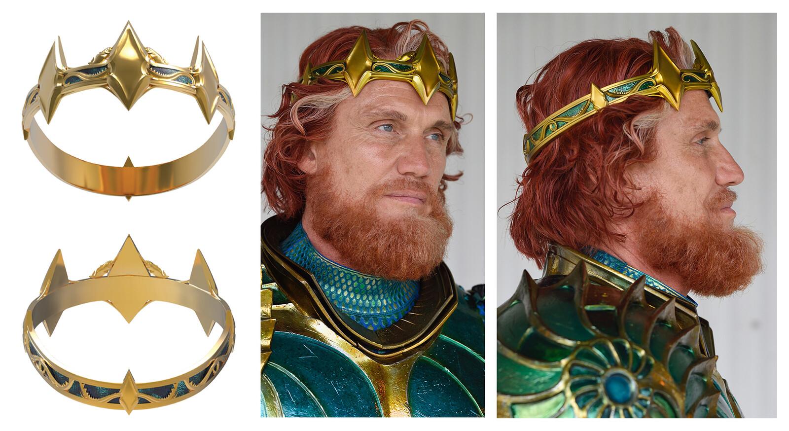 King Nereus - crown 3d modelled and 3d printed