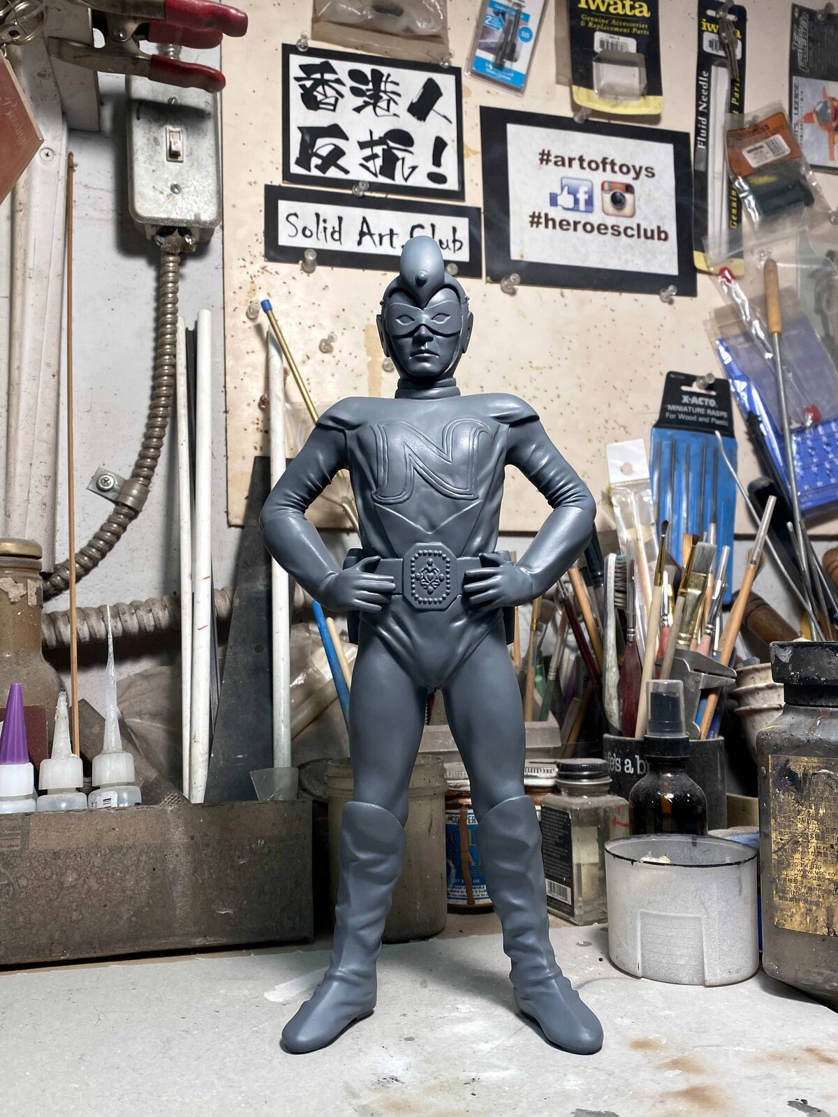 National Kid Art Statue 元祖東洋英雄 ナショナルキッド  https://www.solidart.club/