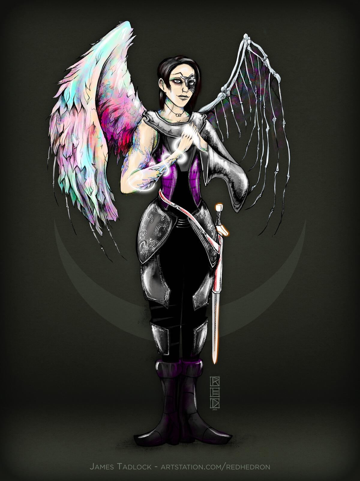 Fallen Aasimar Acolyte - Character Design
