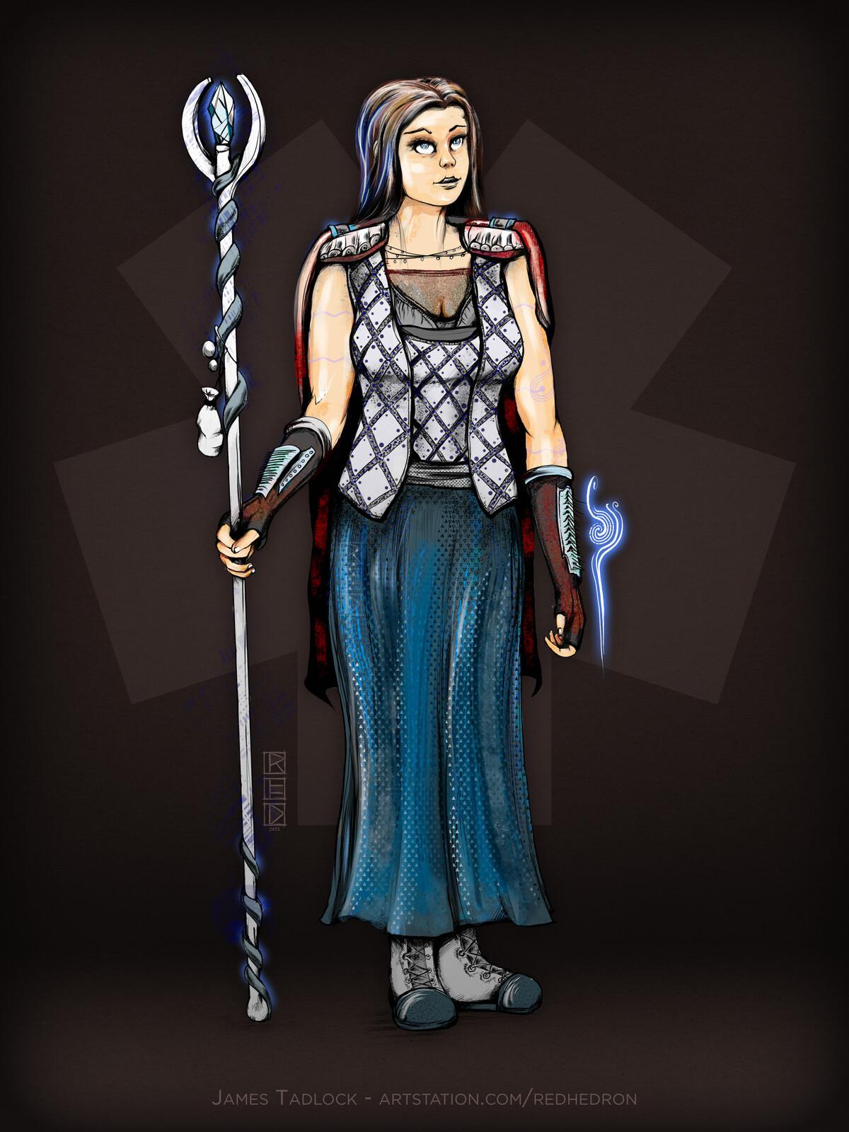 Human Cleric - Character Design
