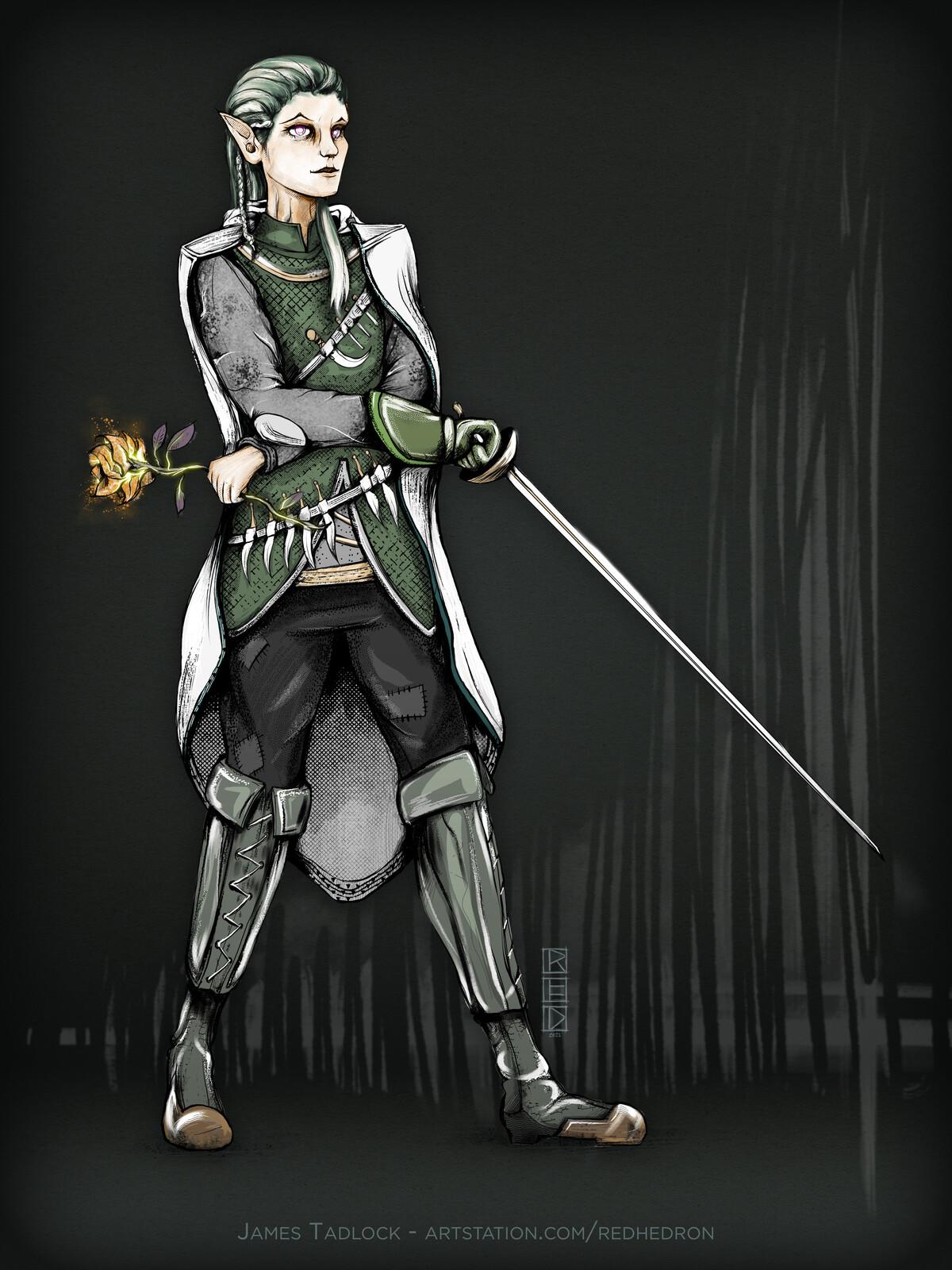 Half-Elf Brigand - Character Design
