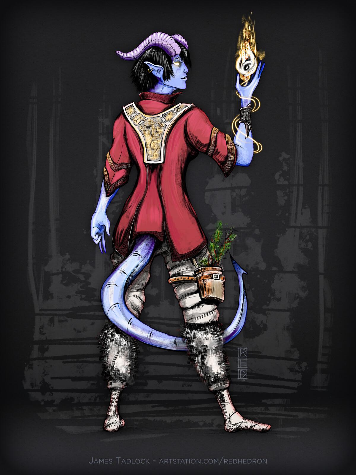 Tiefling Outlander - Character Design