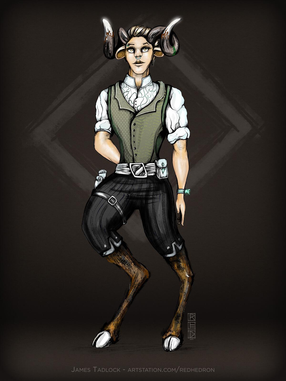 Satyr Shopkeep - Character Design