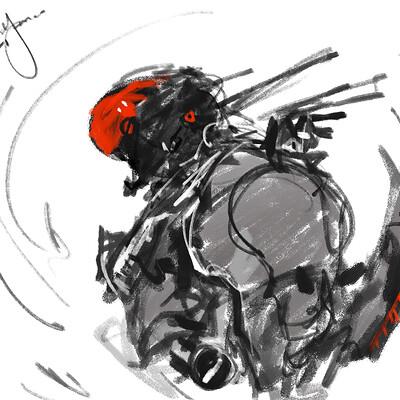 Benedick bana darkfall cyborg soldier