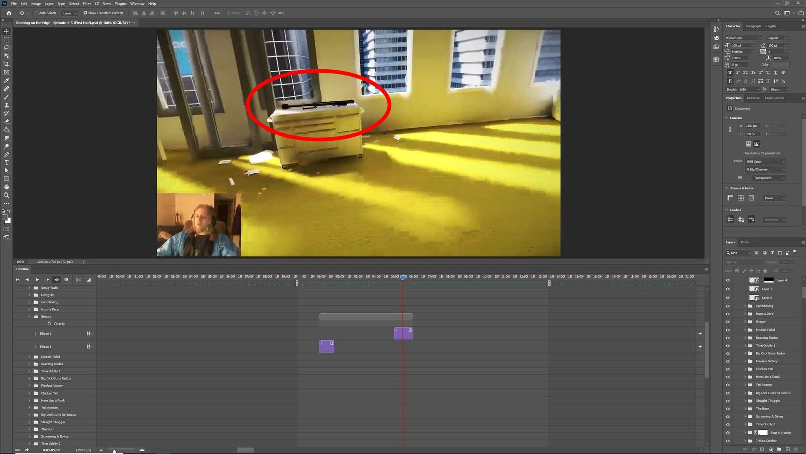 """The """"Gettin a Snippy, Part 1"""" visual effect within Photoshop video editor"""
