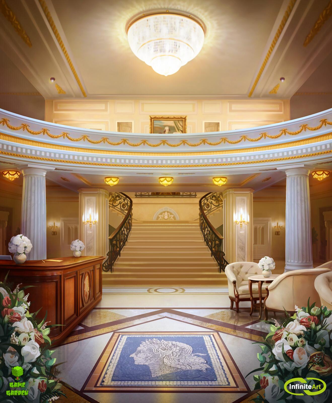 Angelina hotel Lobby (12 hours)