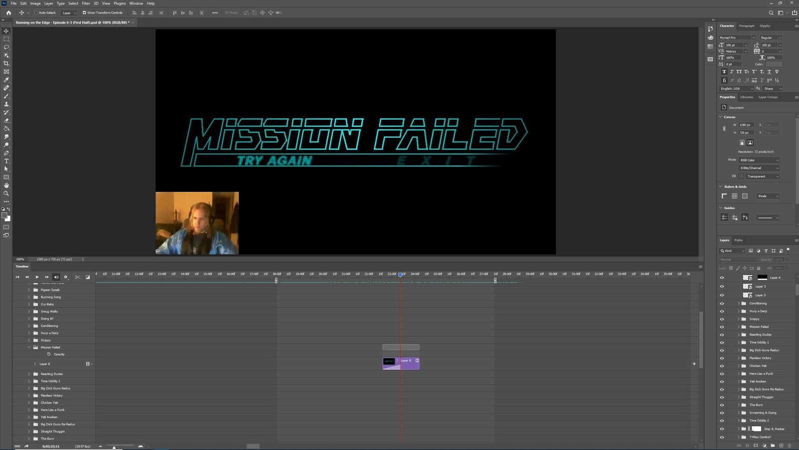 """The """"Gettin a Snippy, Part 2"""" visual effect within Photoshop video editor"""