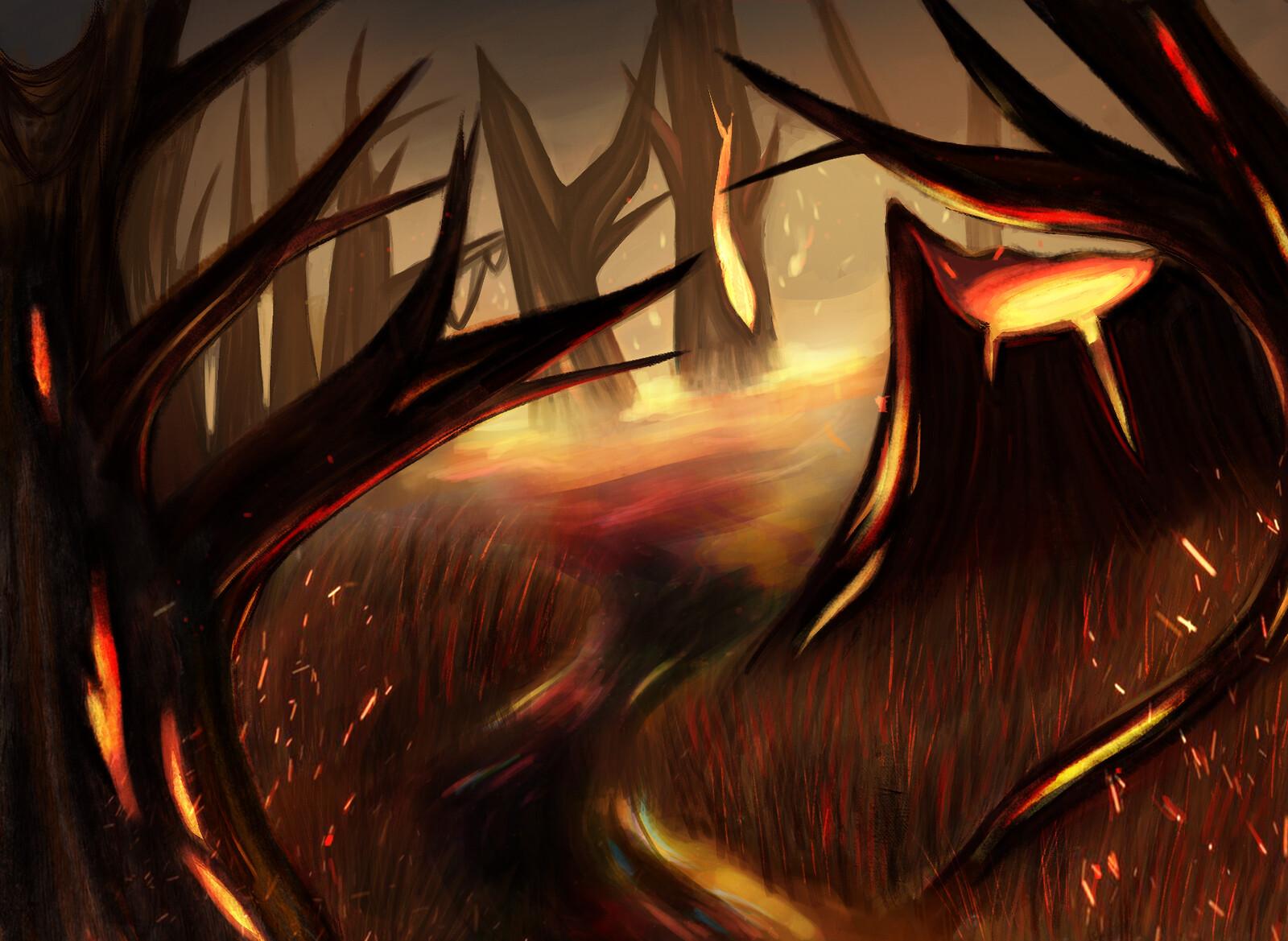 MTG | Scorched Swamp