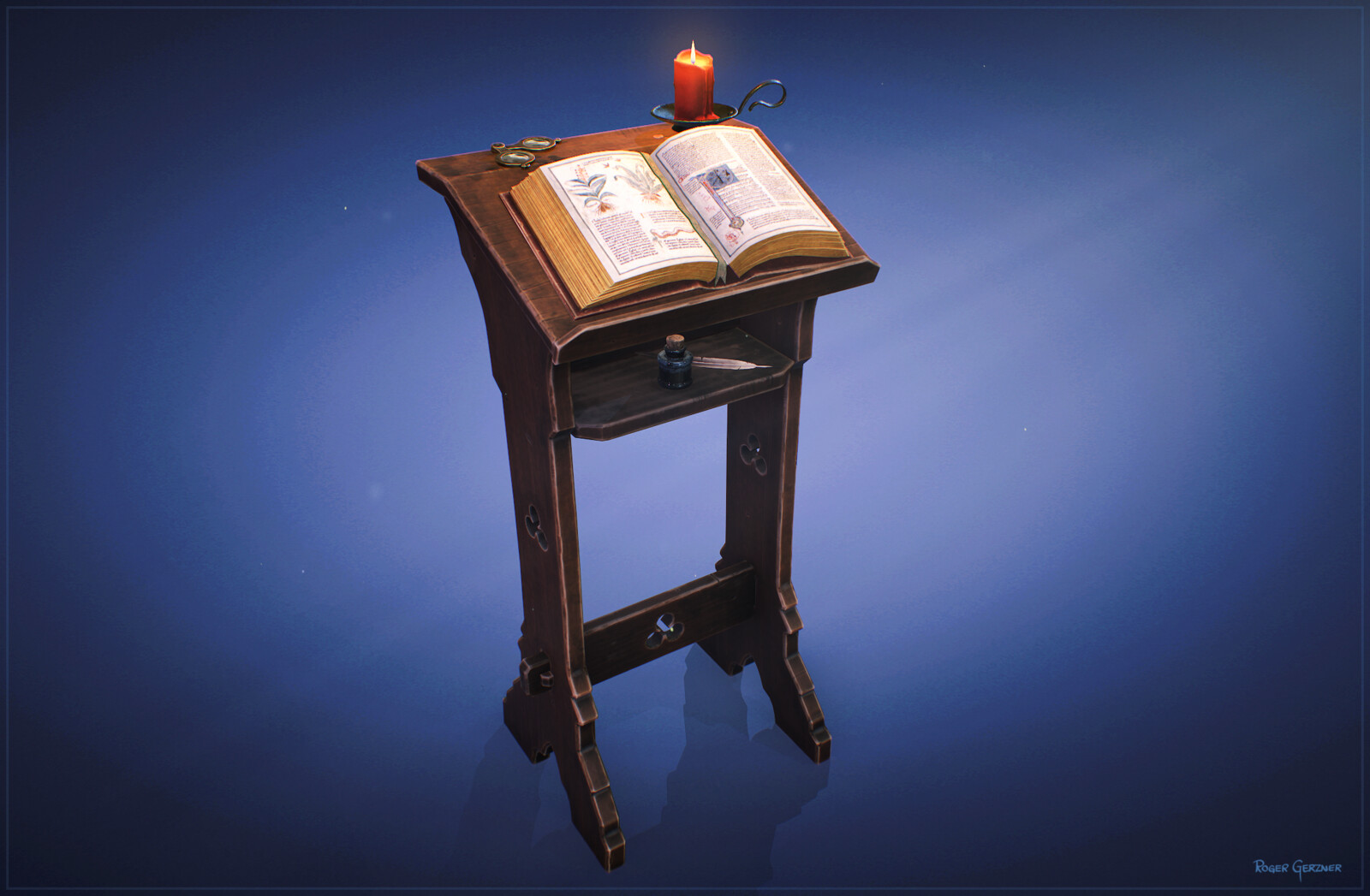 Stylized Book Stand