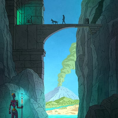 Visual storytelling, Mountain Temple