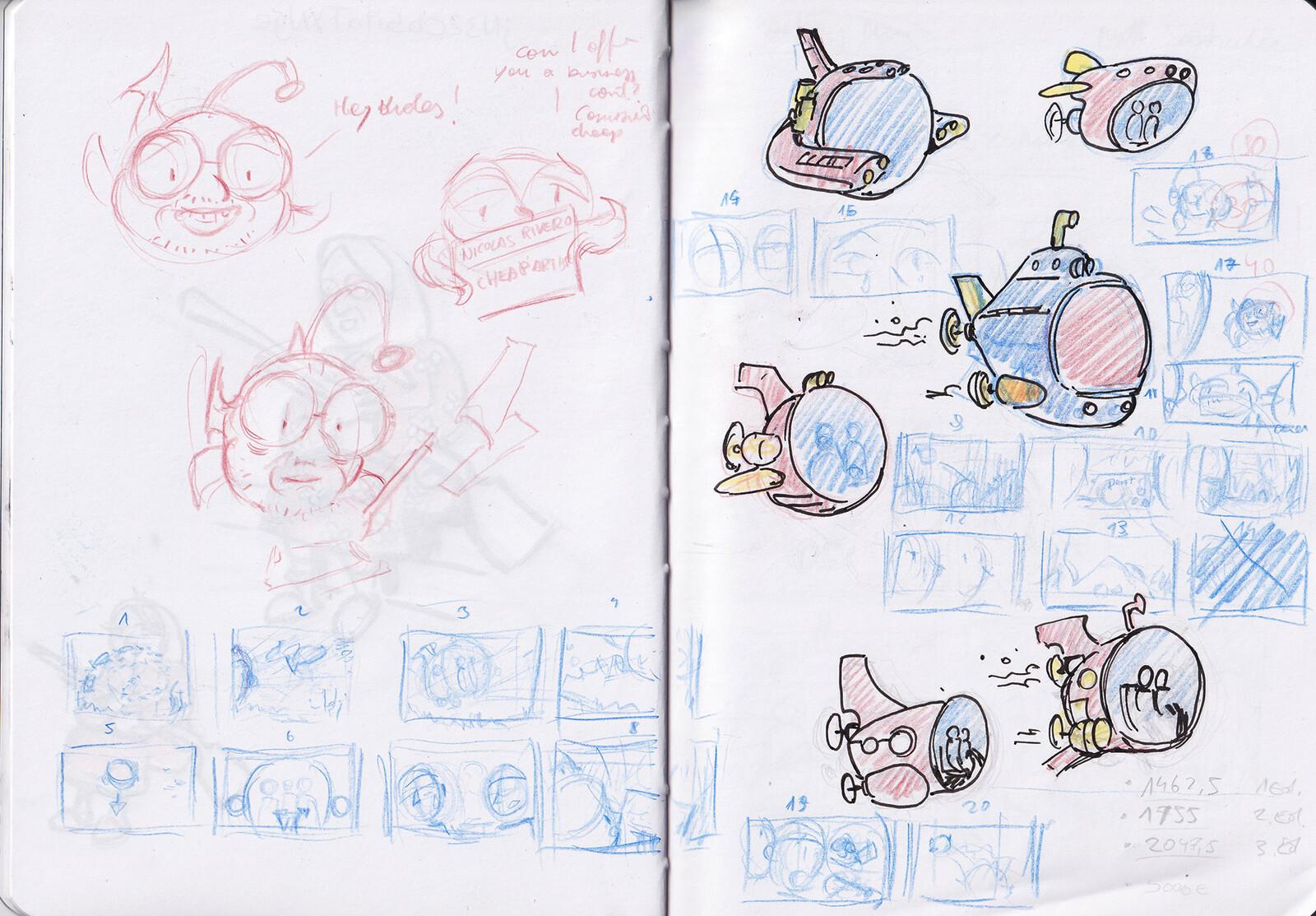 preparation sketches