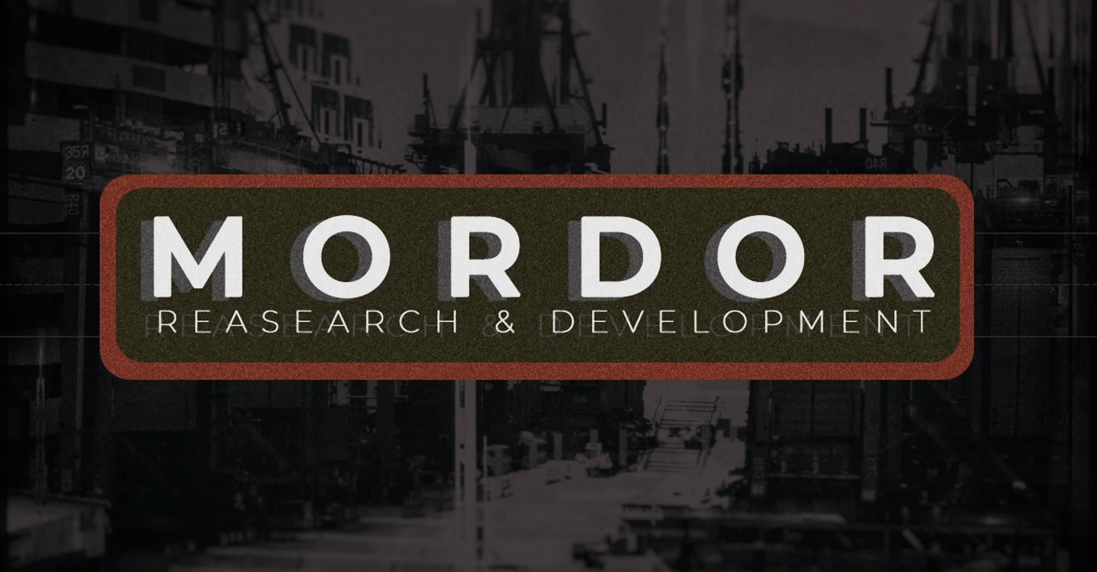 MORDOR Reasearch & Development (MRD)
