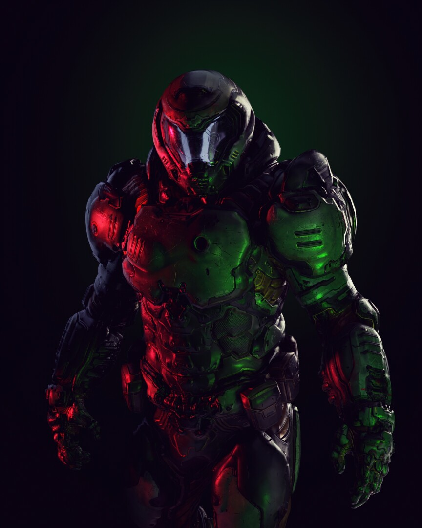 DOOMGUY // Gel Photography Fanart
