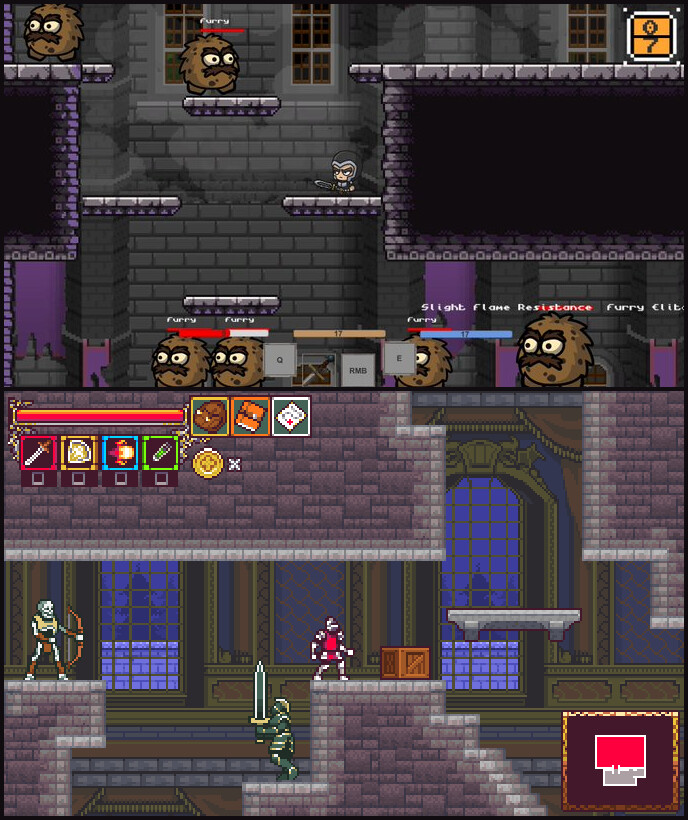 Before/after my graphics were used for what became Plague Breaker.