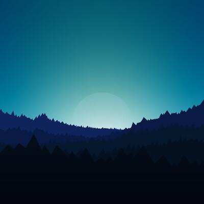 Jorge hardt v1 blue night forest 1920x1080