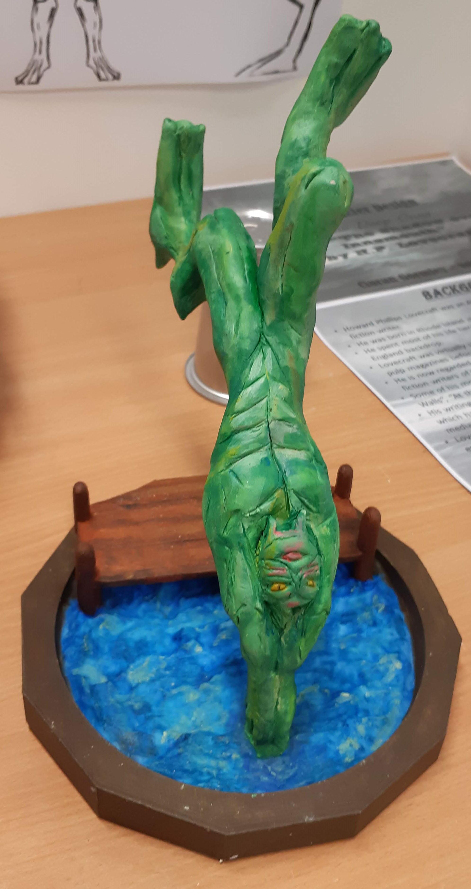 Sculpie Maquette Model on 3D Printed Base