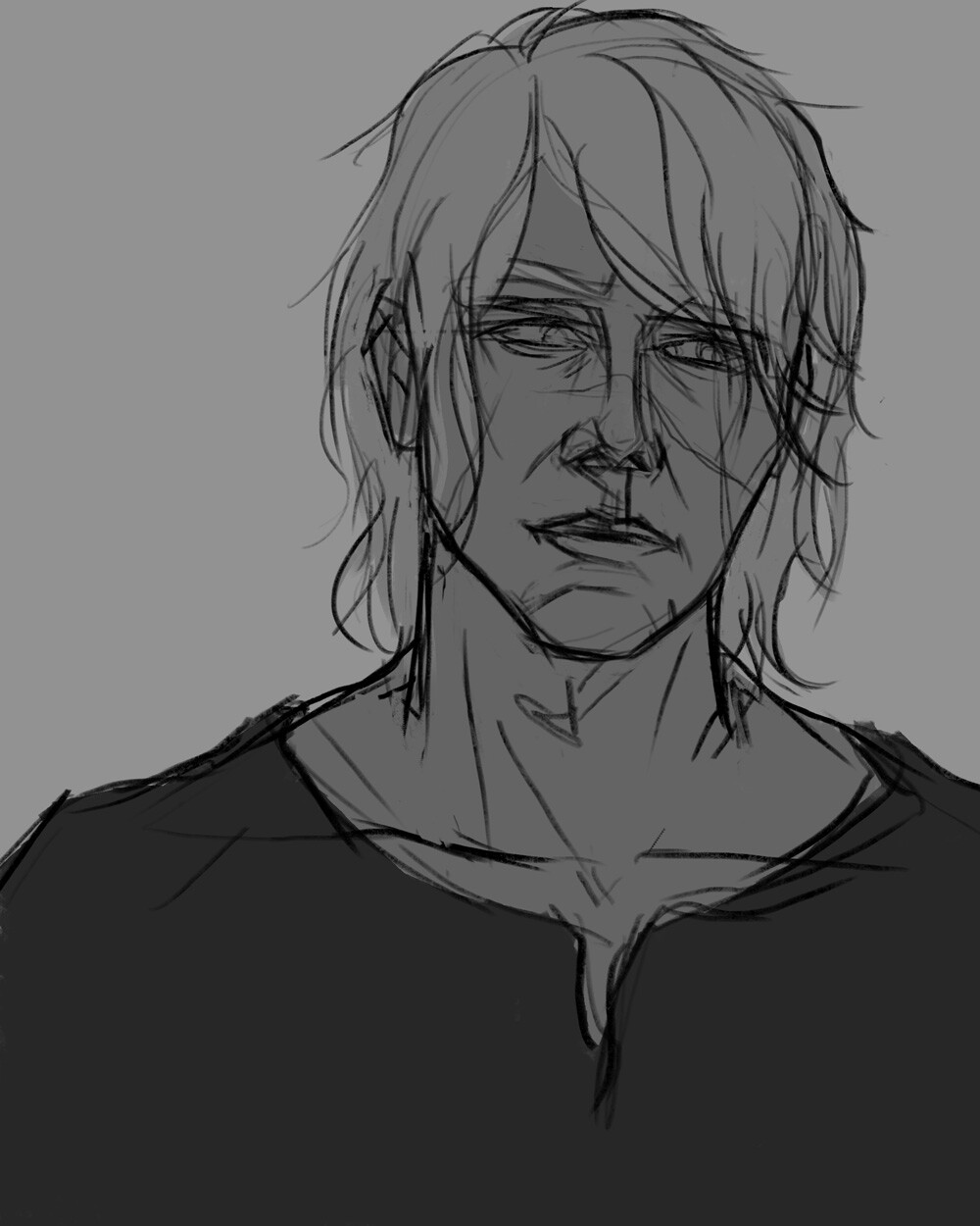 initial rough sketch