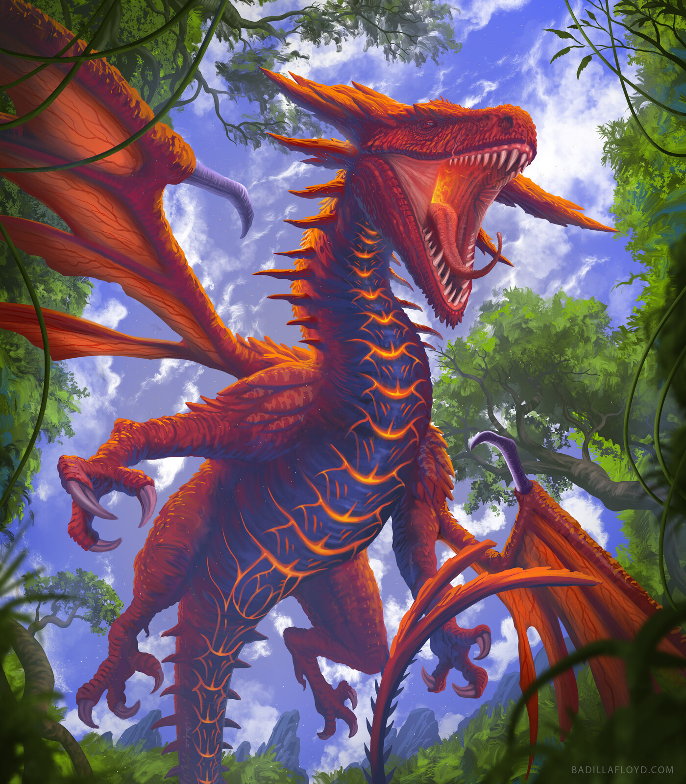 Austral red dragon