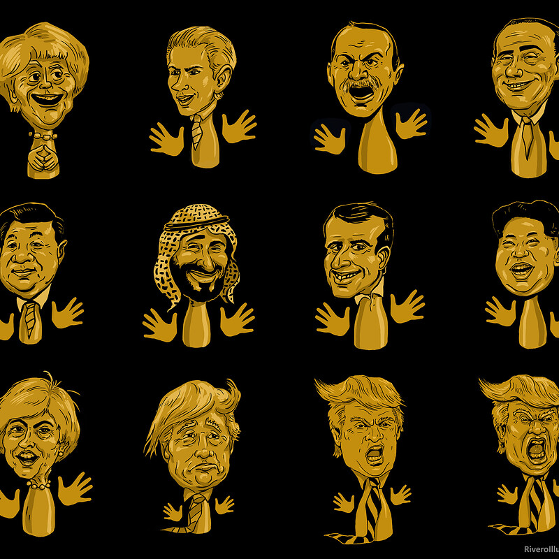 World Control board game caricatures